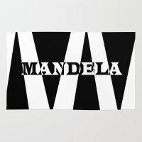 mandela Area & Throw Rugs featuring Mandela tribute by Brian Raggatt