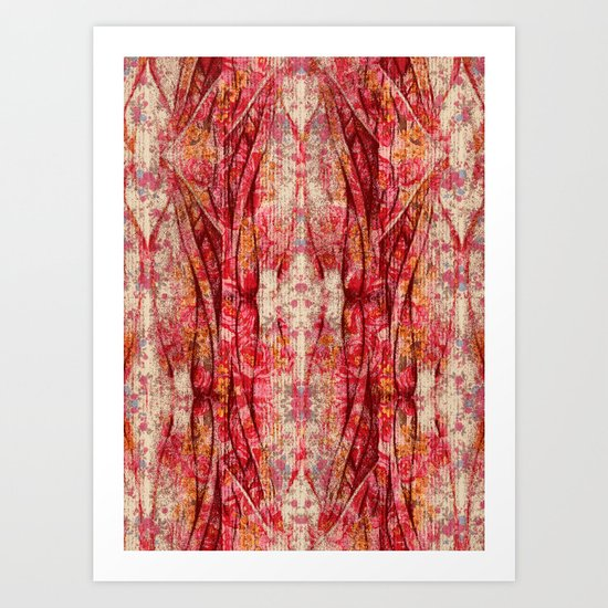 Ripped and Rosy Art Print