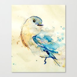 Watercolor Bird by Spencer Sinclair Canvas Print