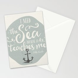 THE SEA - BLUE Stationery Cards