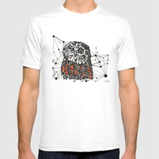 the Owl MEDIUM Mens Fitted Tee White