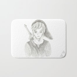 The Hero of Time Bath Mat