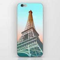 eiffel iPhone & iPod Skins featuring Eiffel  by Ben Fischl