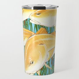 Live for the Catch- Red Fish Travel Mug
