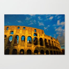 Sunset Over The Roman Colosseum Canvas Print