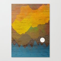 Cloudy Sea Canvas Print