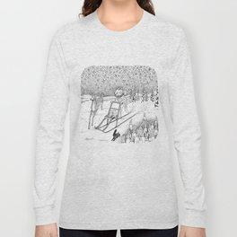 Kick-sledding Fox Long Sleeve T-shirt
