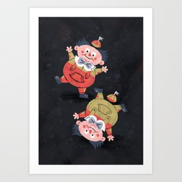 Tweedledee and Tweedledum - Alice in Wonderland Art Print