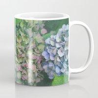 hydrangea Mugs featuring hydrangea by EnglishRose23