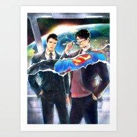 heroes Art Prints featuring Heroes by Hai-ning