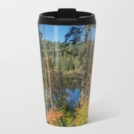 Lake in French forest Travel Mug
