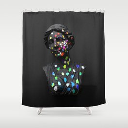 When She Thought of Stars Shower Curtain