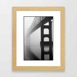 Savanna-Sabula Bridge Framed Art Print