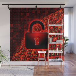 Secure data concept. Wall Mural