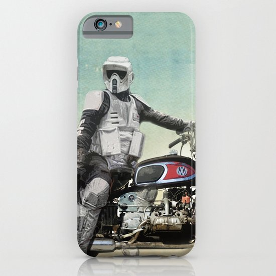 Looking for the drones, Scout Trooper Motorbike iPhone & iPod Case