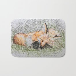 Sleepy Fox Bath Mat