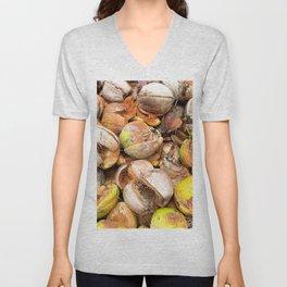 Coconut Husk Photography. Coir. Coconut Fibre. Coir Fibres Unisex V-Neck