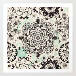 Mandala pattern Art Print