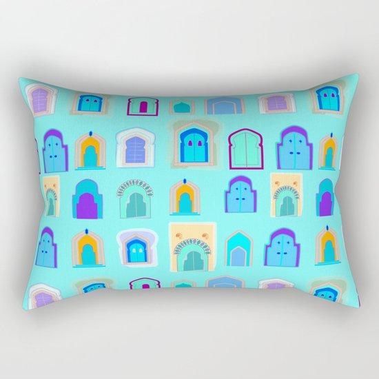 Moroccan Doors Rectangular Pillow