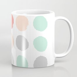 Painted minimal dots trendy gender neutral bright happy color palette nursery art Coffee Mug