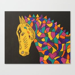 Carnival Mardi Gras Horse Canvas Print