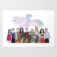 firefly Art Prints featuring Firefly by enerjax