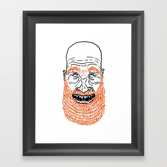 beardy Framed Art Print