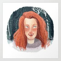 ygritte Art Prints featuring In Winter by laurarts