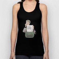 Virginia Woolf Quote Unisex Tank Top