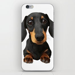 Cute Sausage Dog iPhone Skin