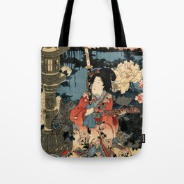 Garden of the Prosperous Blooms Triptych 1 Tote Bag