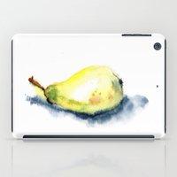 pear iPad Cases featuring pear by Katja Main