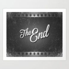 The End /poster Art Print