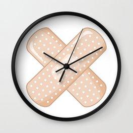 Get Well Bandaid Wall Clock