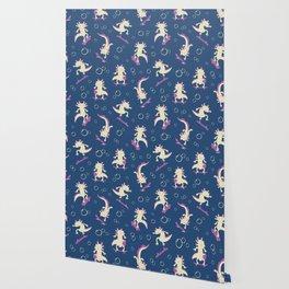 To the Maxolotl - Blue & Violet Wallpaper