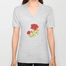 Rosarium in watercolor Unisex V-Neck