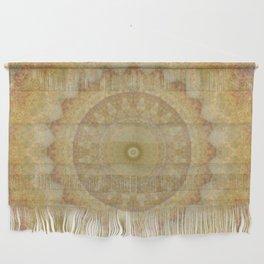Topaz Gold Sun Marble Mandala Wall Hanging