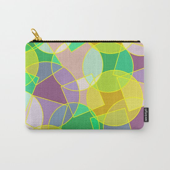Colorful abstract geometric pattern Carry-All Pouch