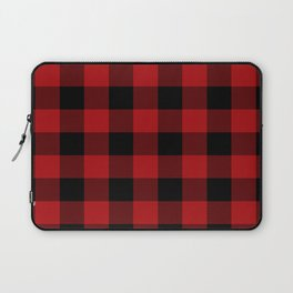 Red & Black Buffalo Plaid Laptop Sleeve