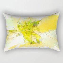 Pale Yellow Poinsettia 1 Serene Rectangular Pillow