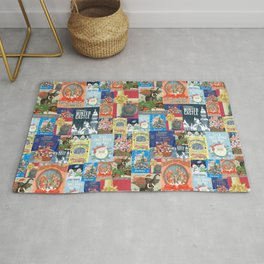 Christmas Vintage Attraction Posters Rug