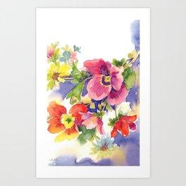 floral watercolor Art Print