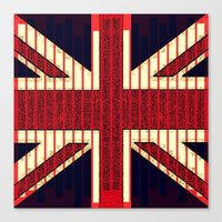 british flag Canvas Prints featuring BRITISH FLAG by shannon's art space