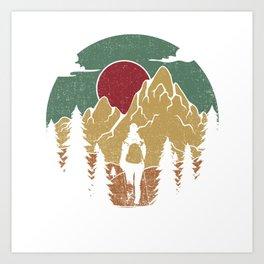 Forest Nature Camping Vibrant Design Art Print