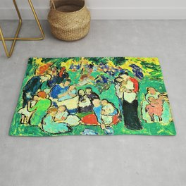 Pablo Picasso - Children in the Luxembourg Gardens - Digital Remastered Edition Rug