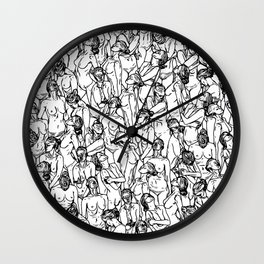 Unveiled Wall Clock