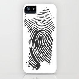 Sardinian fingerprint iPhone Case