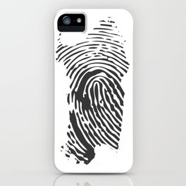 Sardinian fingerprint iPhone Case