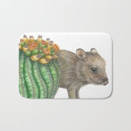 Javelina and Barrel Cactus Bath Mat