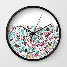pug in monster land 2 Wall Clock